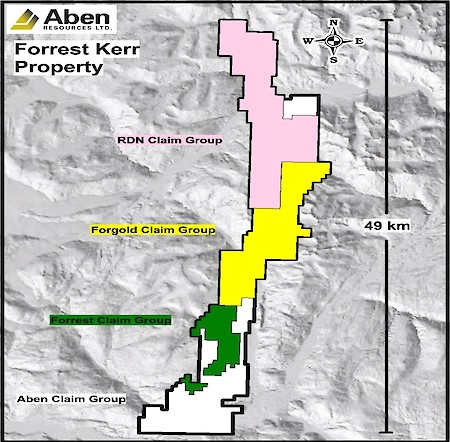 Forrest Kerr Project, BC, Claim Group Map