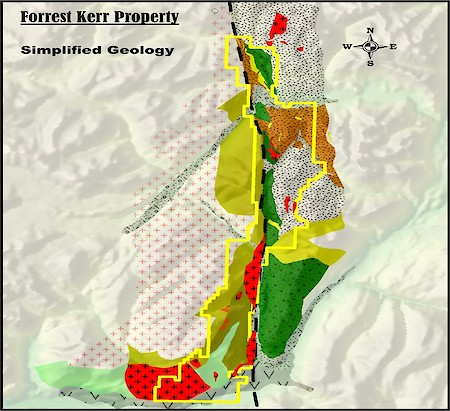 Forrest Kerr Project, BC, Simplified Geology Map