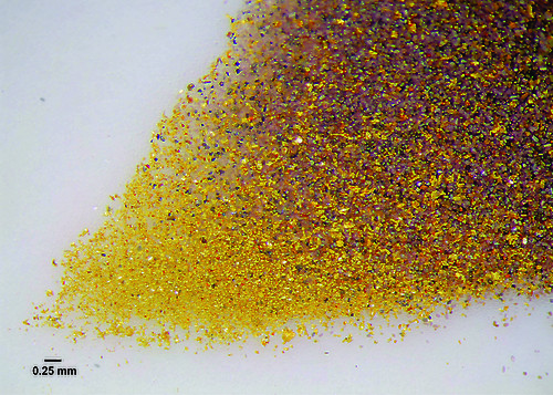 Gold Grains from Justin Project, Lost Ace Zone, Yukon